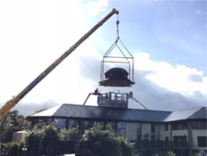 Still Tower Roof Lift Royal Oak Distillery